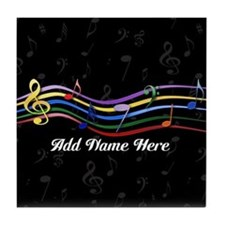 Personalized Rainbow Musical Tile Coaster
