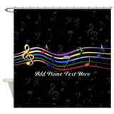 Personalized Rainbow Musical Shower Curtain