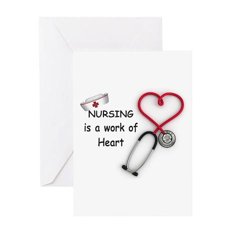 Nurses Work of Heart Greeting Card