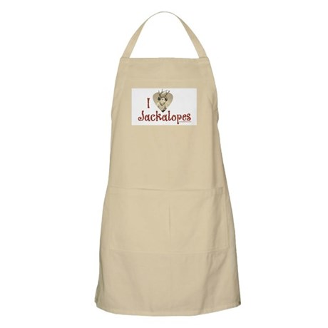 I love Jackalopes BBQ Apron
