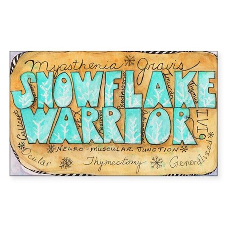 Snowflake Warrior Sticker (Rectangle)