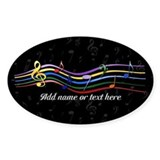 Rainbow Musical Notes Decal