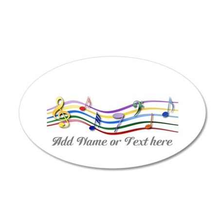 Personalized Rainbow Musical 22x14 Oval Wall Peel