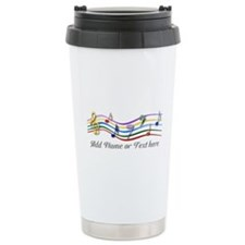 Personalized Rainbow Musical Travel Mug