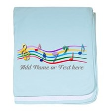 Personalized Rainbow Musical baby blanket