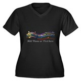 Personalized Rainbow Musical Women's Plus Size V-N