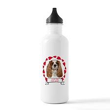 Cavalier Hearts Water Bottle