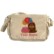 1st Birthday Puppy Girl Messenger Bag