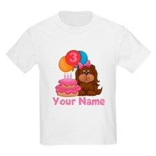 3rd Birthday Puppy Girl T-Shirt