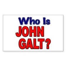 Who Is John Galt? Rectangle Decal
