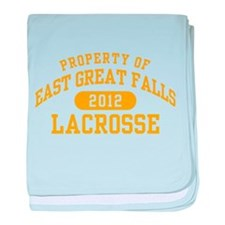East Great Falls Lacrosse baby blanket