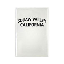 Squaw Valley California Rectangle Magnet