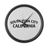 South Yuba City California Large Wall Clock