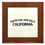 South San Jose Hills California Framed Tile