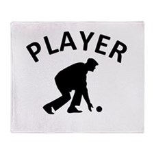Lawn Bowling Player Throw Blanket