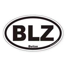 Belize BLZ Euro Oval Decal