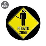 "Pirate Zone 3.5"" Button (10 pack)"