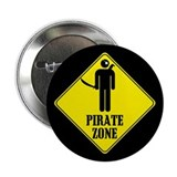 "Pirate Zone 2.25"" Button (10 pack)"