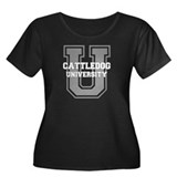 Cattle Dog UNIVERSITY Women's Plus Size Scoop Neck