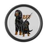 Gordon Setter BFF Large Wall Clock