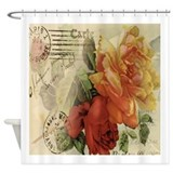 Vintage Paris Roses Shower Curtain