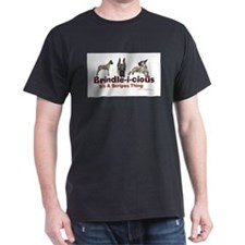 Brindle-i-cious 3 It's a Stri Black T-Shirt