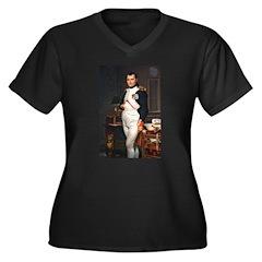 Napoleon Women's Plus Size V-Neck Dark T-Shirt