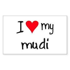 I LOVE MY Mudi Decal
