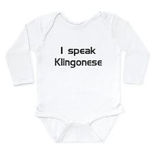 Cute Star trek nerd Long Sleeve Infant Bodysuit