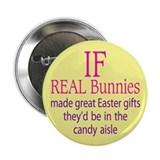 "NO real bunnies for Easter 2.25"" Button (100 pack)"