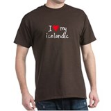 I LOVE MY Icelandic T-Shirt