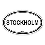 Stockholm, Sweden euro Oval Decal
