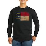 North Carolina Flag Long Sleeve Dark T-Shirt