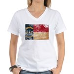 North Carolina Flag Women's V-Neck T-Shirt