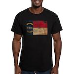 North Carolina Flag Men's Fitted T-Shirt (dark)