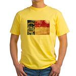 North Carolina Flag Yellow T-Shirt