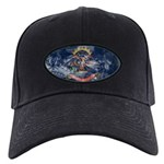 North Dakota Flag Black Cap