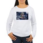 North Dakota Flag Women's Long Sleeve T-Shirt