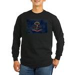 North Dakota Flag Long Sleeve Dark T-Shirt