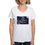 North Dakota Flag Women's V-Neck T-Shirt