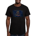 North Dakota Flag Men's Fitted T-Shirt (dark)