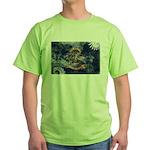 North Dakota Flag Green T-Shirt