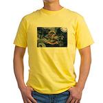 North Dakota Flag Yellow T-Shirt