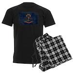 North Dakota Flag Men's Dark Pajamas