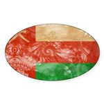 Oman Flag Sticker (Oval 10 pk)