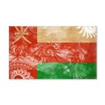 Oman Flag 22x14 Wall Peel