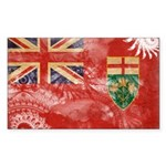 Ontario Flag Sticker (Rectangle)