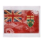 Ontario Flag Throw Blanket