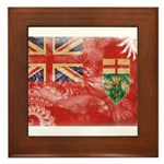 Ontario Flag Framed Tile
