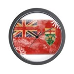 Ontario Flag Wall Clock